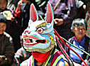 Dancer in a rabbit mask